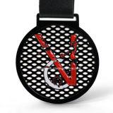 Medalla negra de encargo del metal del deporte del color de la fábrica