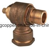 Virola giratória de bronze com conexão de compressão