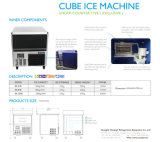 Machine de glace de partie supérieure du comptoir avec la production de la glace 80kgs/24h