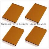 6 mm de couleur bronze doré Verre/Verre décoratif/le verre de construction
