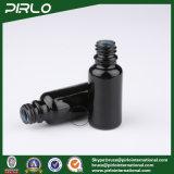 frascos de vidro opacos pretos do pulverizador 20ml com o pulverizador de alumínio preto da bomba