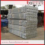 Alta seguridad ajustable galvanizados puntales de acero