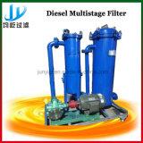Sistema a più stadi del filtro dal gasolio specialmente per la generazione dell'elettricità