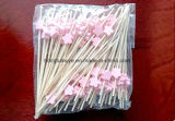 Lovely Descartável BBQ Bamboo Cocktail Sticks / Picks / Skewers