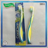 Escova de dentes para adultos de três cores e pinça adornada