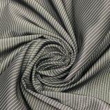75D 까만 & 백색 수직 수평한 줄무늬 재킷을%s 모조 기억 장치 직물