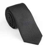 Cravate 100% en soie en polyester poli en tissu (NT-024)