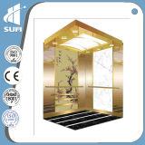 com o elevador do passageiro do aço inoxidável do espelho do corrimão