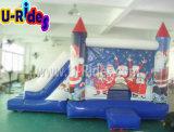 Sankt-Mann Weihnachtsschloßthema Inflatalbe Prahler mit Plättchen