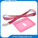 Promotion Strap Custom Jacquard Woven Lanyard with Retractable Reel Cardholder