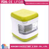 Давление чеснока Dicer дробилки кубика чеснока миниое пластичное с лезвиями нержавеющей стали