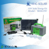 Whc 6V10W Kit d'énergie solaire à LED rechargeable pour camping