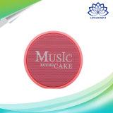 Música torta redonda caja del altavoz inalámbrico Bluetooth portátil
