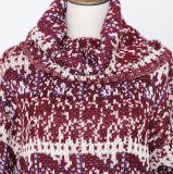 サイズのTutleの首および長い袖が付いている重いゲージの流行のジャカード女性のプルオーバーに