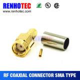 Cable connecteur coaxial femelle à angle droit de SMA