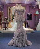 Mermaid Off The Shoulder Wedding Evening Dress com Tulle Ruffled