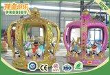 Parque de Atracciones Equipo Musical Niños 6 Asientos Mini Carrusel Paseo a Caballo