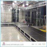 Estágios móveis portáteis dos estágios inoxidáveis de aço baratos do ferro do estágio