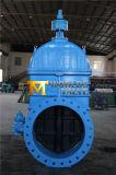 Válvula de porta revestida de borracha de ferro Ductil para tubos de água