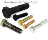 Boulons filetés par moitié de type 1 de la norme ANSI A325 avec le zinc enduit