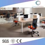 Poste de travail personnalisé moderne de bureau de portées du compartiment deux (CAS-W1771534)