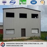 Азии двух этажное здание сегменте панельного домостроения лампа конструкционной стали на заводе склад