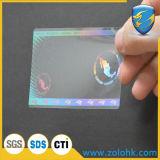Una muestra gratis y el envío de tarjeta de identificación Transparente adhesivo holograma
