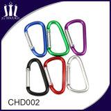 Porte-clés en aluminium D Crochet de mousqueton en forme de D