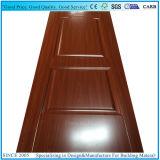 Pieles moldeadas de madera laminadas interior de la puerta de la melamina de la madera de construcción del MDF HDF