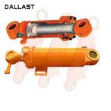 Hydraulische Cilinders van de Vuilnisauto van de Zuiger van het roestvrij staal de Dubbelwerkende voor Landbouwmachines