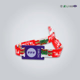 Wristband descartável estrangeiro do evento H3 PVC/Paper RFID de ISO18000-6c