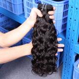 Tecelagem chinesa não processada humana natural por atacado barata do cabelo do Virgin da onda de água 100%