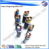 XLPE imperméable à l'eau a isolé le câble d'alimentation électrique blindé engainé par PVC