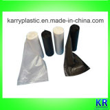 Sacs d'ordures personnalisés par plastique de couleur