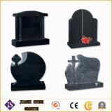 Headstones neri poco costosi del granito per le tombe
