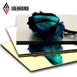 Tamanho externo 3mm Ideabond materiais decorativos de poliéster a folha de alumínio