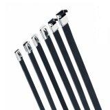 Legami della chiusura lampo ricoperti PVC dell'acciaio inossidabile - legami della serratura di auto della sfera per uso nell'elettricità