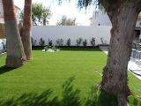 Schöne Farbe vier, die synthetischer Rasen-künstlichen Rasen landschaftlich verschönert