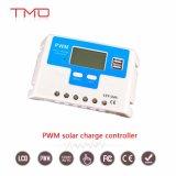 contrôleur de charge de panneau solaire de 10AMP PWM avec l'écran LCD de port USB 12 volts