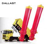 Único cilindro hidráulico ativo cromado alta qualidade para o caminhão de descarga