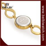 Montre simple de petit or élégant de dames de bracelet de Belbi