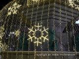 Luz LED de copo de nieve decoracion navideña