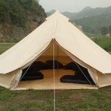 Tende di Bell di lusso di campeggio esterne di safari del cotone della tenda del Teepee degli adulti della base all'ingrosso