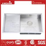 20X33 de Bovenkant van het roestvrij staal zet de Enige Gootsteen van de Keuken van de Kom Met de hand gemaakte met de Raad van het Afvoerkanaal op