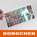 Feito na etiqueta impermeável feita sob encomenda do holograma da segurança da folha de ouro do melhor fabricante de China