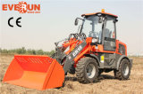 Qingdao Everun 1.5 Ton Agricultural Equipment Small Wheel Loader mit Wooden Forks