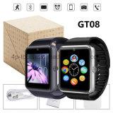 Téléphone intelligent bon marché de montre de Bluetooth avec la fente Gt08 de carte SIM