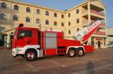 Camion dei vigili del fuoco superiori della caserma dei pompieri del camion di lotta antincendio della Aria-Turbina dei telai di HOWO