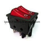 El poder coloridos 4pin Micro interruptor pulsador de Doble Polo