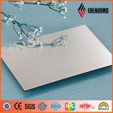 Tamaño personalizado Plata Poliéster Nano 4 mm Placa de aluminio para el gabinete de cocina (AE-32D)